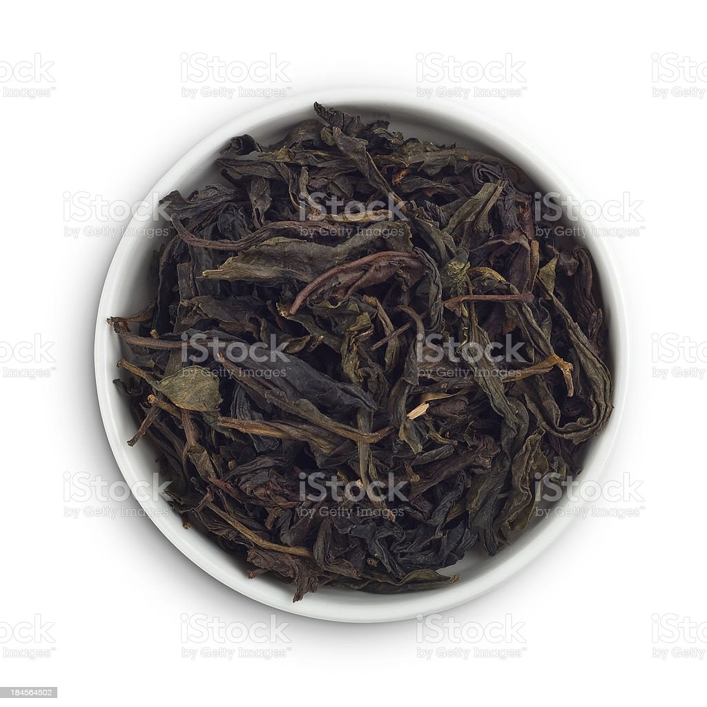 Black tea leaves royalty-free stock photo