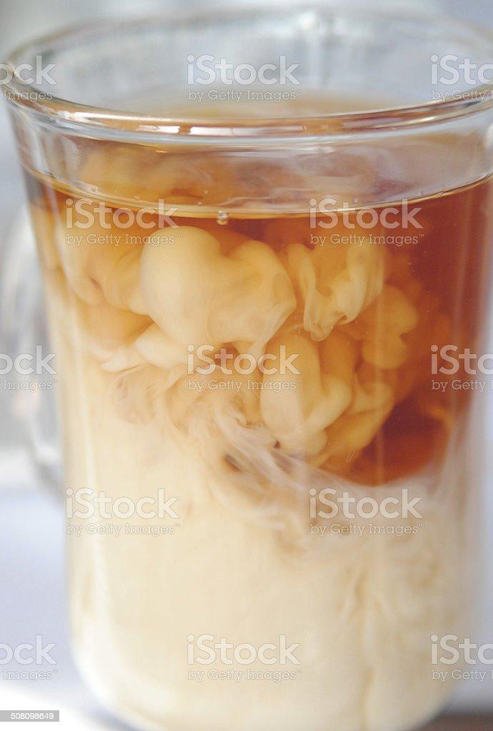 Black Tea with Milk stock photo