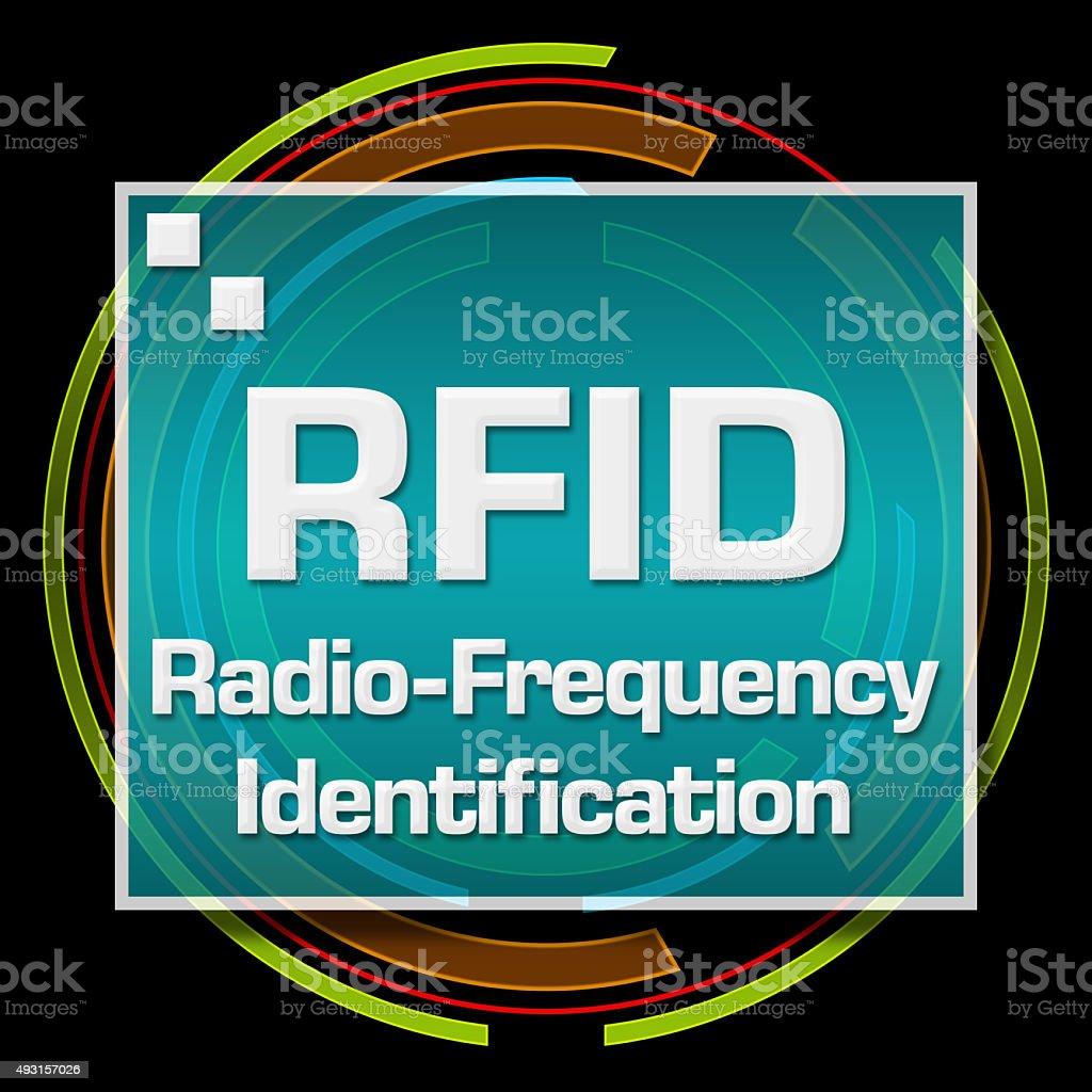 RFID Black Technical Circle stock photo