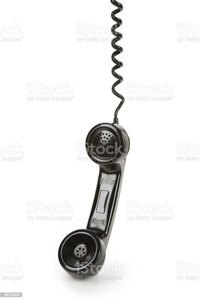 Black telephone Receiver royalty-free stock photo
