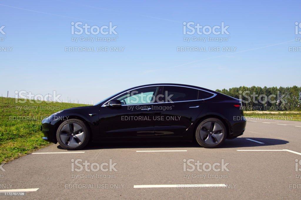 Black Tesla Model 3 Stock Photo Download Image Now Istock