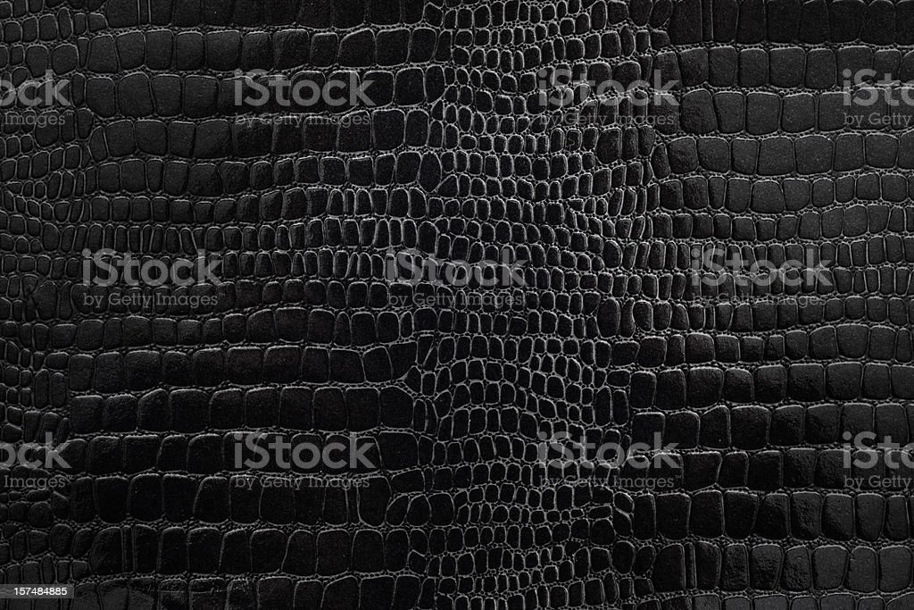 Black textured snakeskin paper stock photo