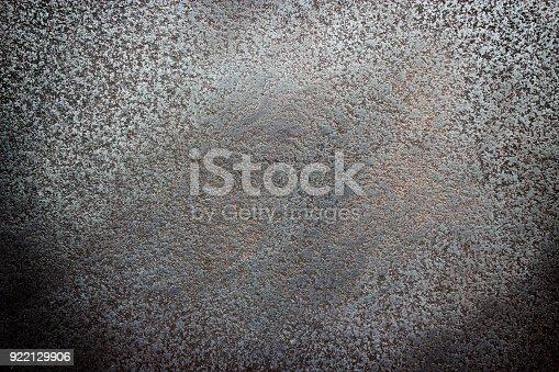 istock Black textured steel, worn metal surface background 922129906