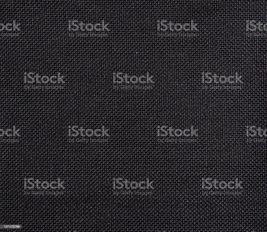 Black textured textile background stock photo