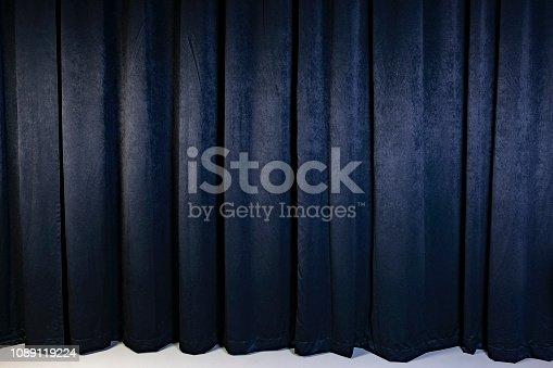 Black theatre curtain