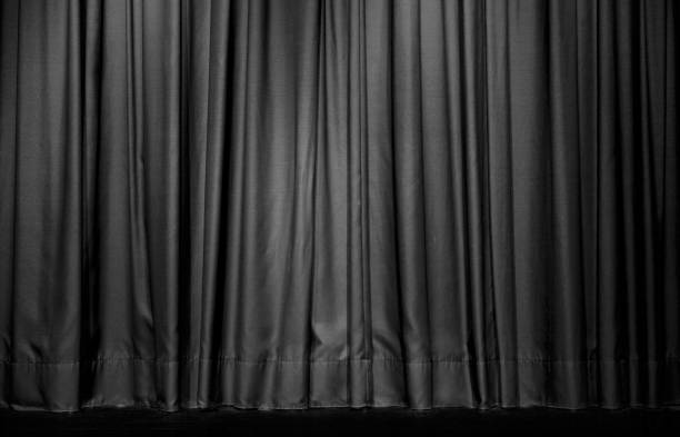 schwarzes theater vorhang - schmidt theater stock-fotos und bilder
