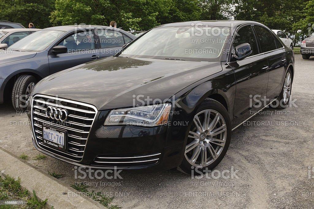Black Third Generation Audi A8 stock photo