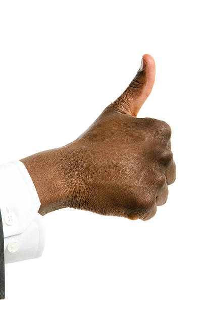 Black thumbs up foto