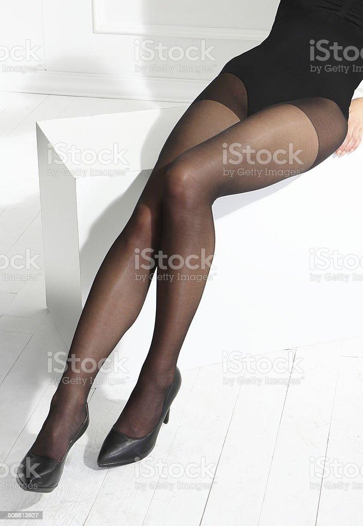 Schwarze Strumpfhose – Foto