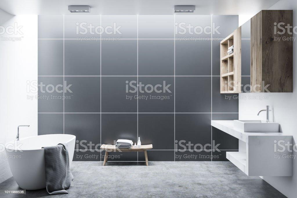 Schwarze Fliesen Badezimmer Interieur Stockfoto und mehr ...