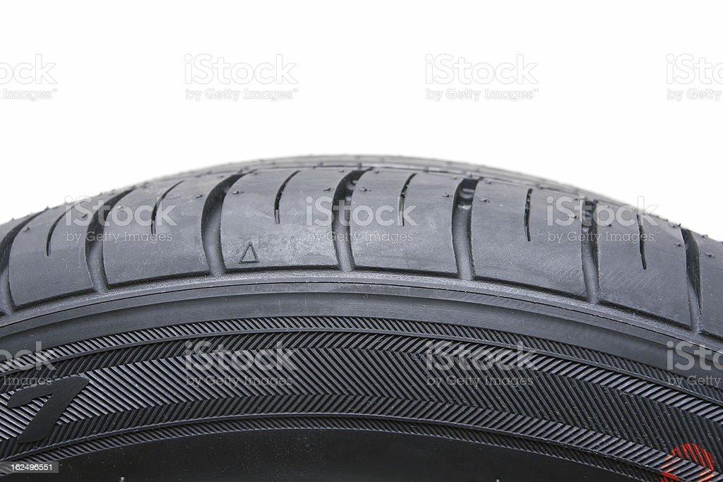 Black Tire isolated on white background royalty-free stock photo