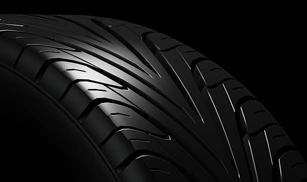 Black tire rubber. stock photo