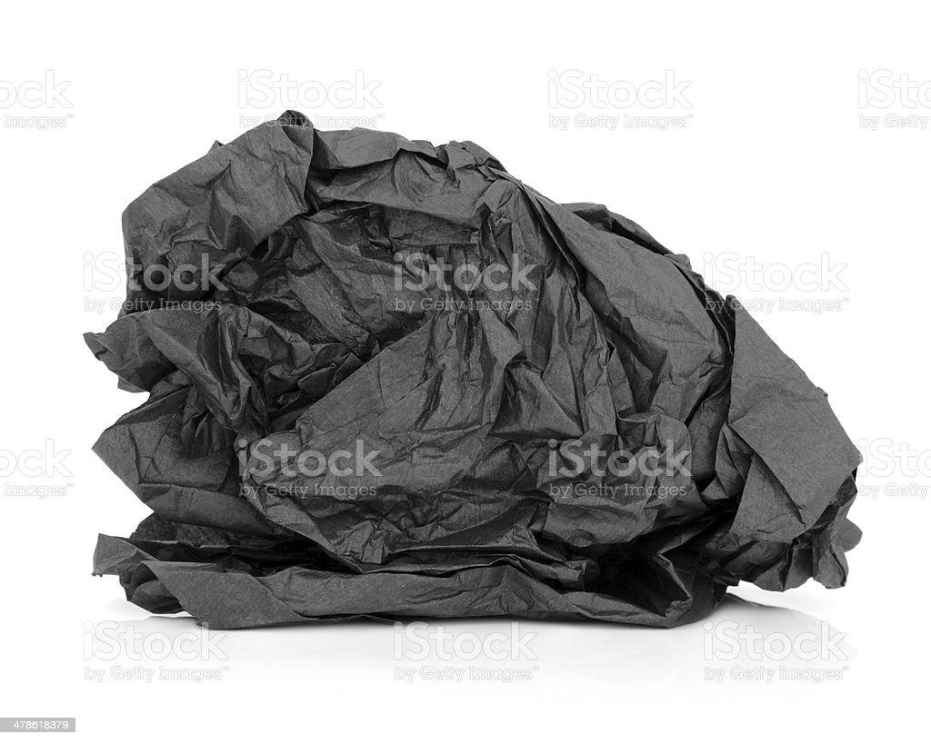 Black Tissue Paper stock photo