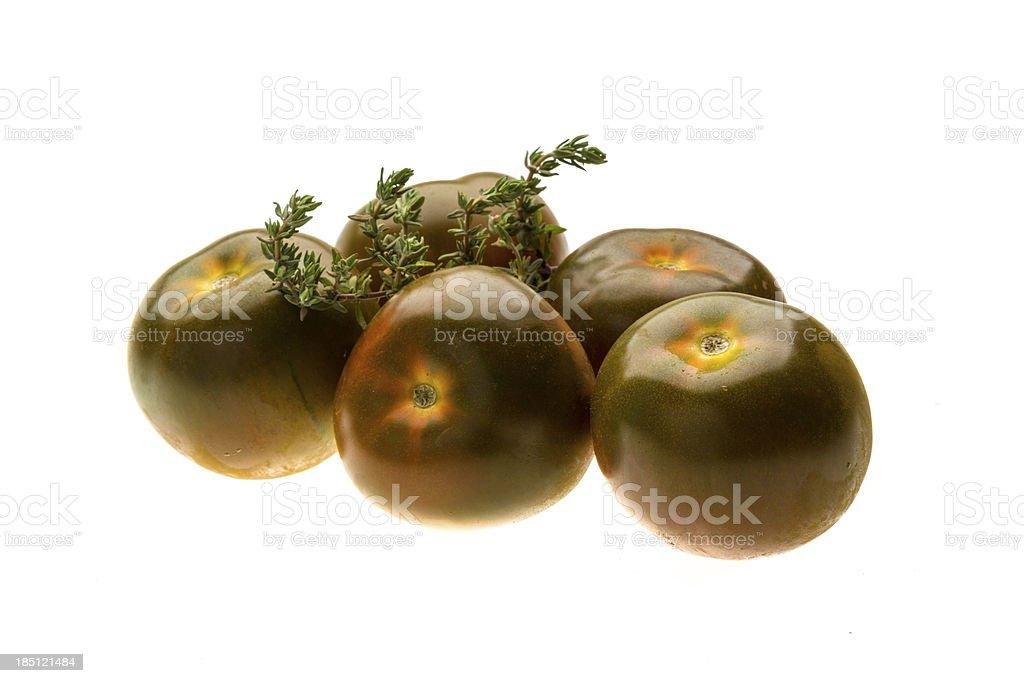 Black tomato stock photo