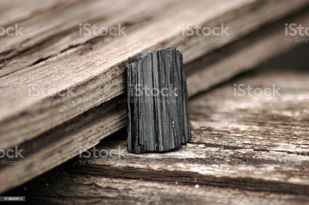 Black tourmaline specimen stock photo