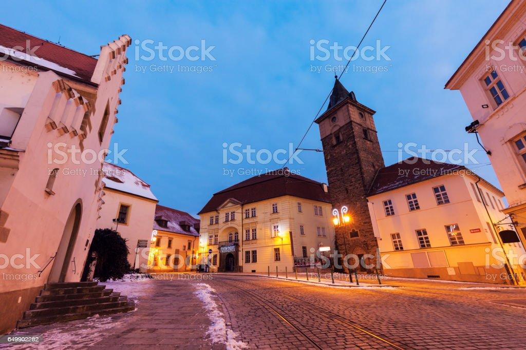 Black Tower in Pilsen stock photo