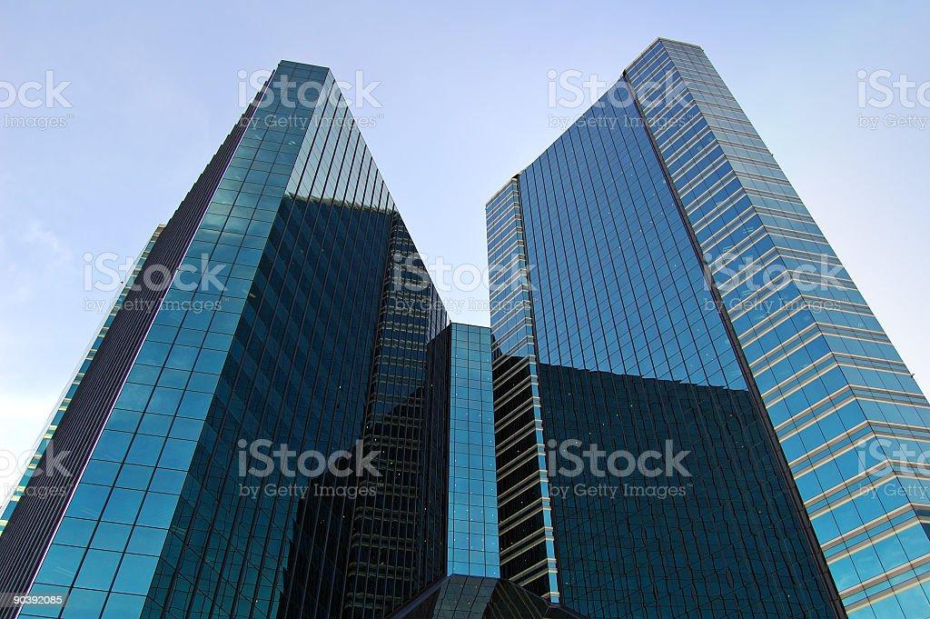 Black towers stock photo