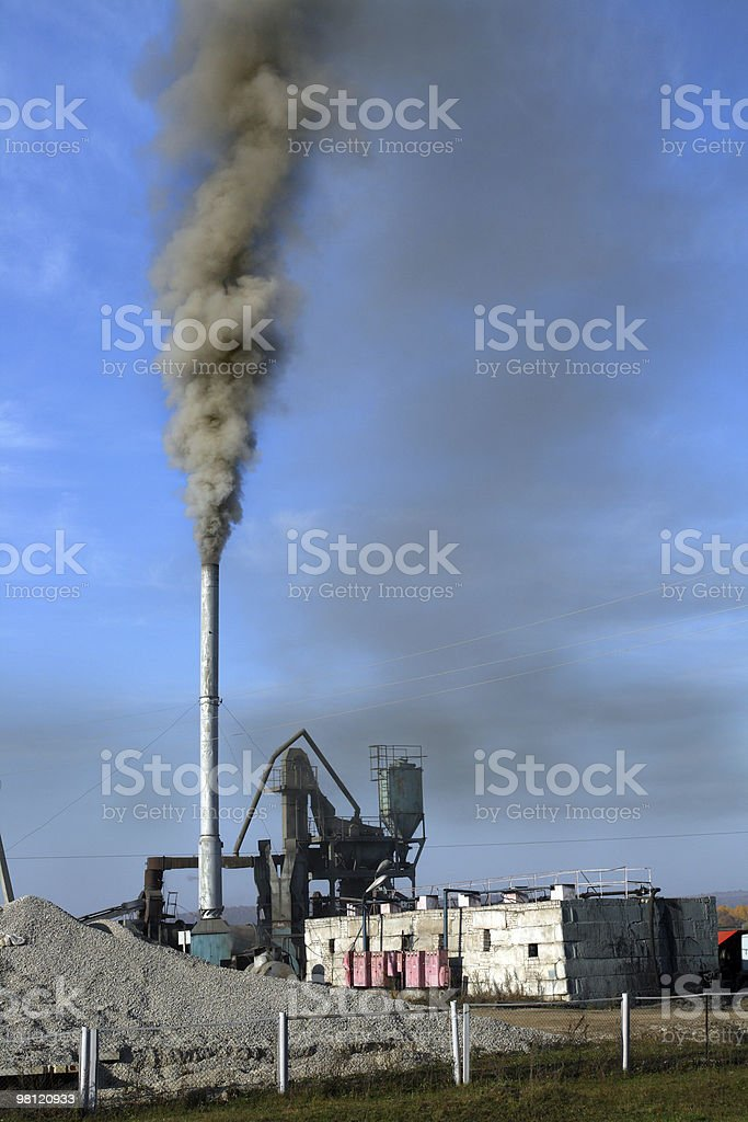 black toxic smoke royalty-free stock photo