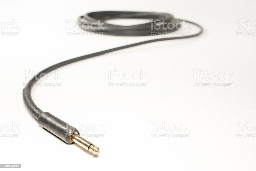 Black TPS Instrument Cable stock photo