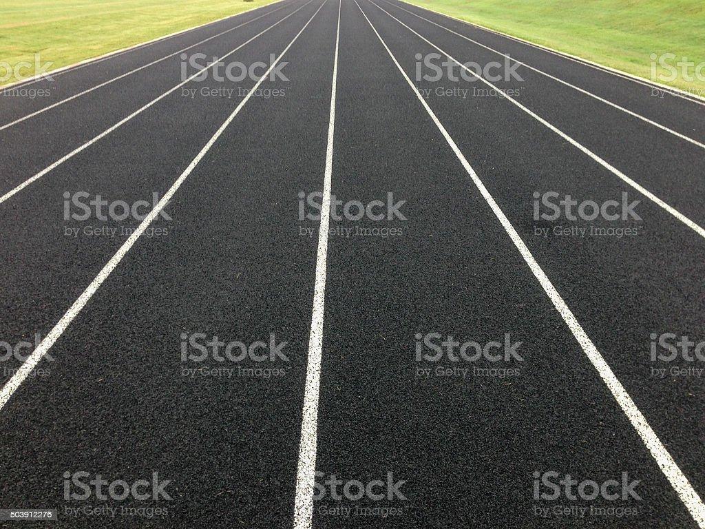 Black Track Lines stock photo