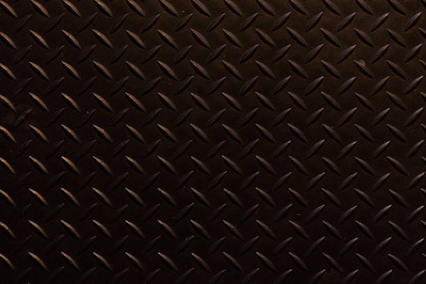 black traction plate background stock photo