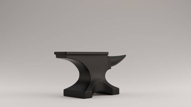 Black Traditional Anvil Black Traditional Anvil 3d illustration 3d render anvil stock pictures, royalty-free photos & images