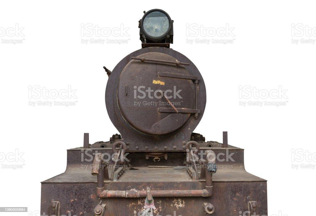 black train isolated stock photo