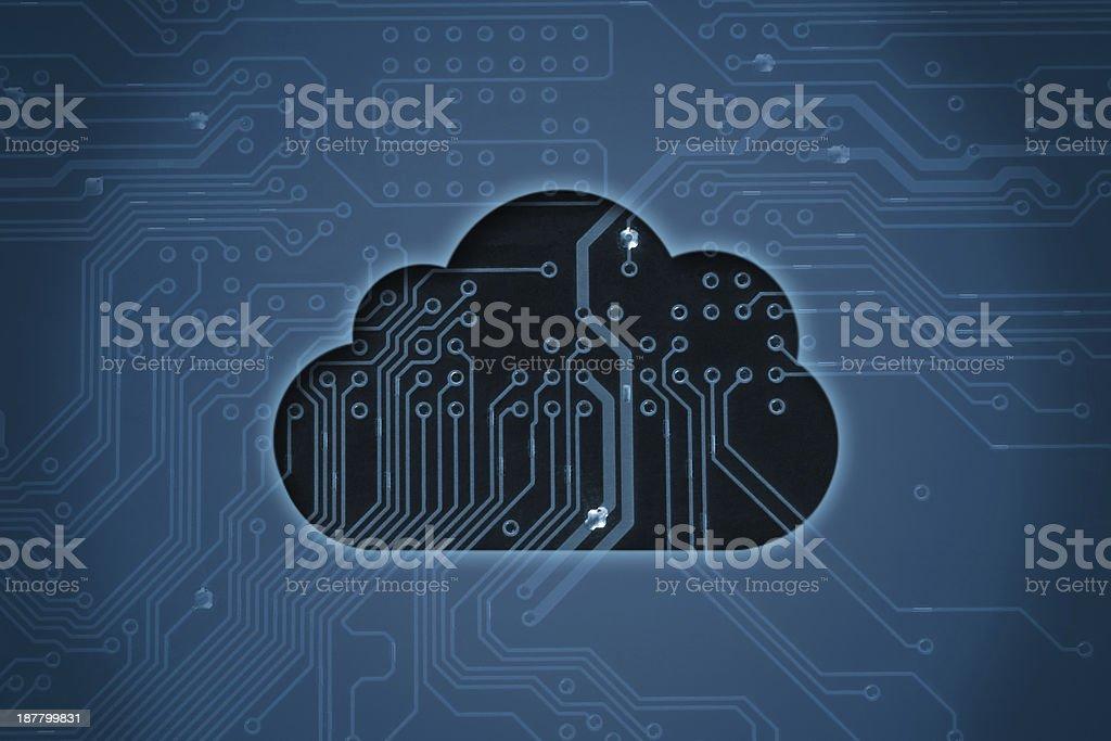 Cloud auf der circuit Hintergrund – Foto