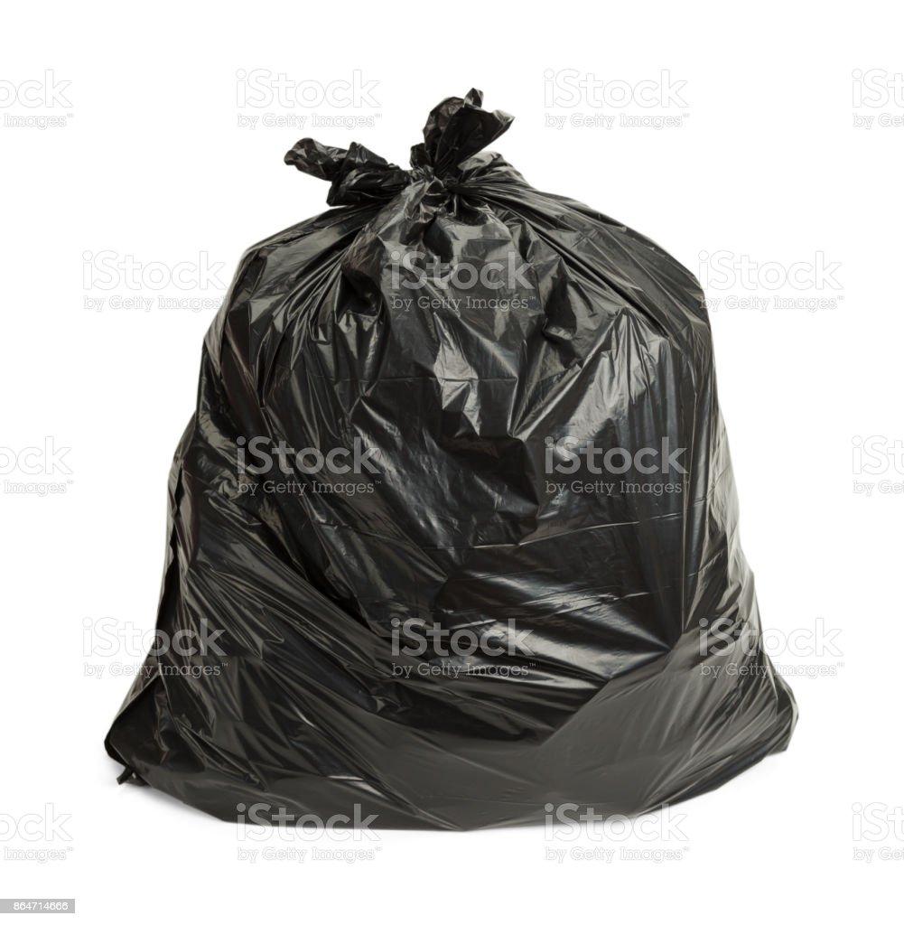 Black Trash Bag stock photo