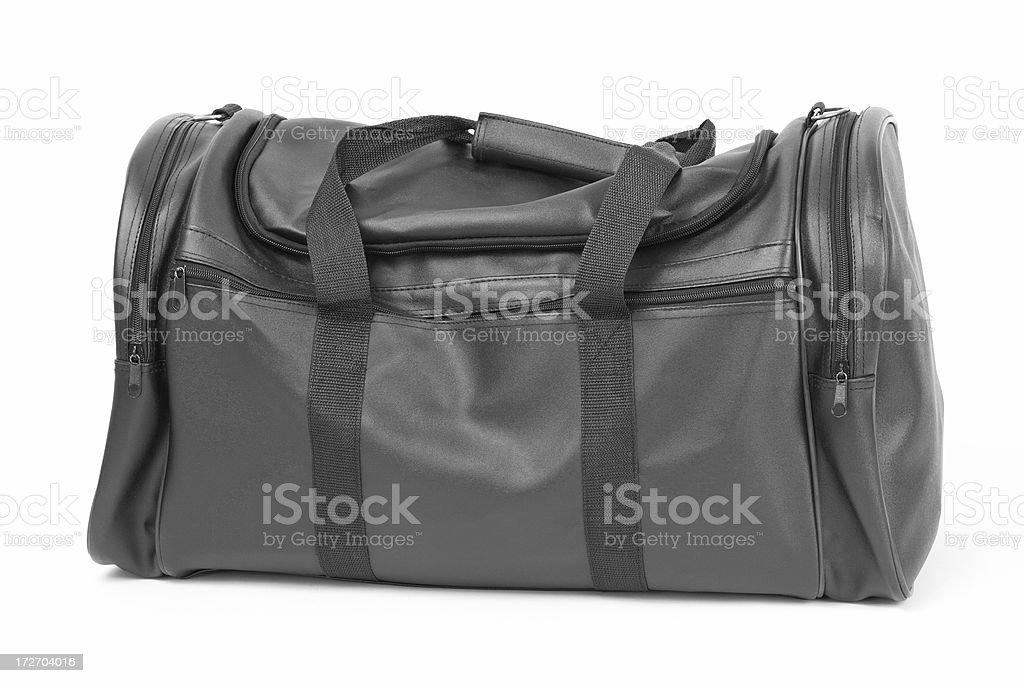 Black Travel Bag Isolated on White royalty-free stock photo