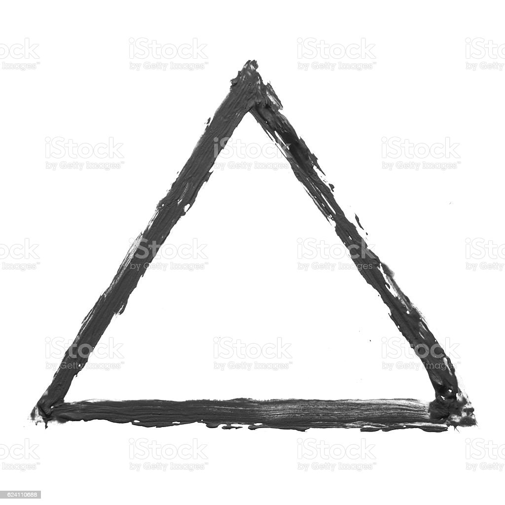 Black triangle stock photo
