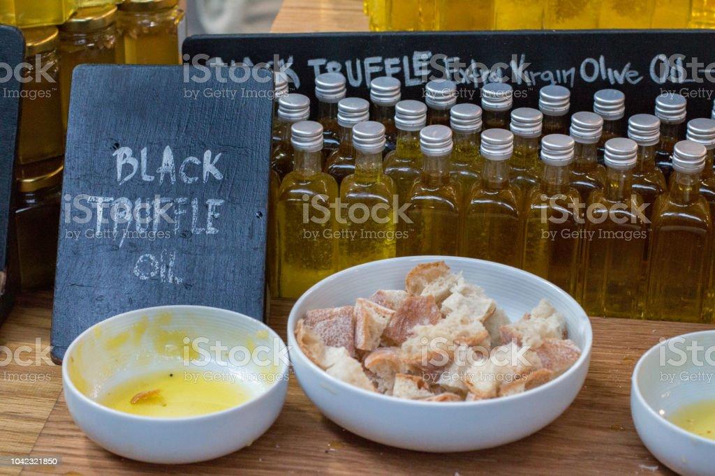 Black Truffles in Borough Market, London stock photo