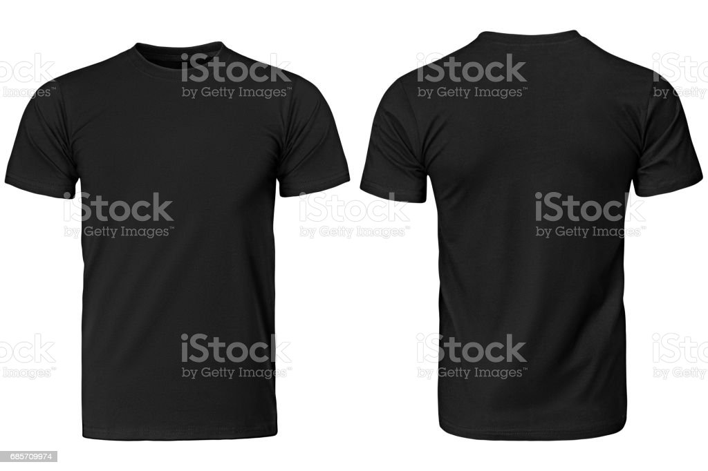 Black t-shirt, clothes . stock photo