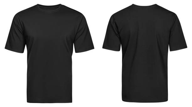 Black t-shirt, clothes stock photo