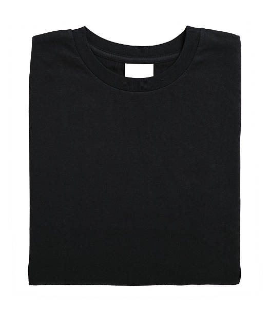 black tshirt stock photo