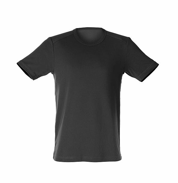 black t-shirt stock photo