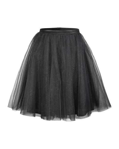 schwarze ballerina tüllrock isoliert auf weiss - tüllkleid stock-fotos und bilder