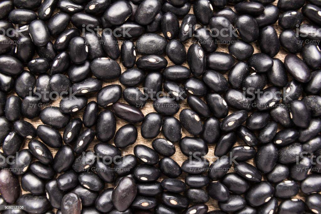 Black Turtle Bean legume. Closeup of grains, background use. stock photo