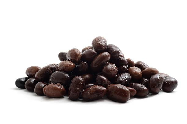 Black Turtle beans stock photo