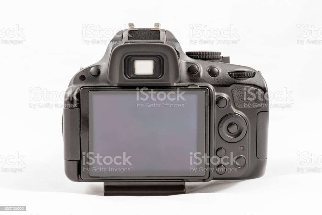 Black Unbranded Dslr Camera Isolated On White Background Stock Photo -  Download Image Now