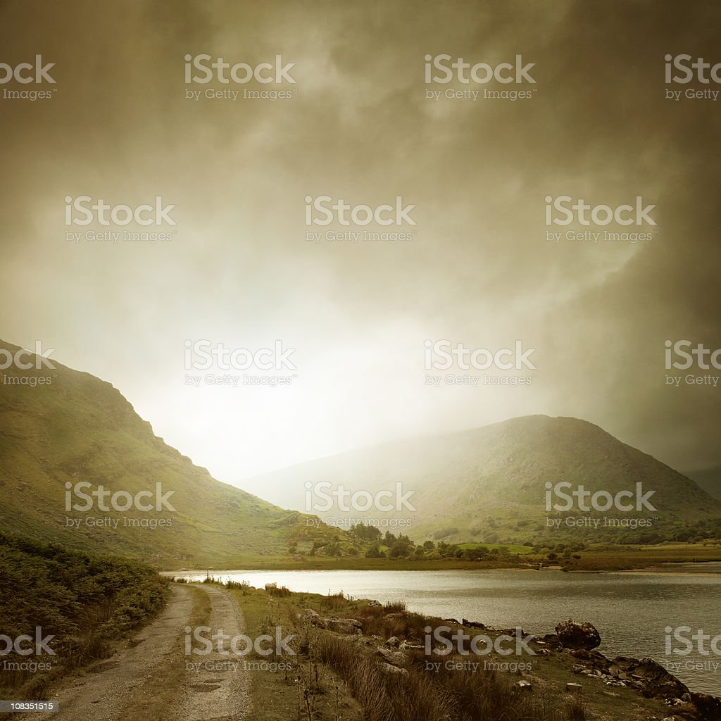 Black Valley with dramatic clouds royalty-free stock photo