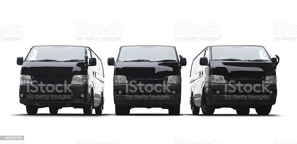Black Vans stock photo