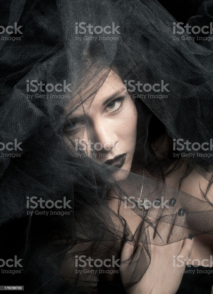 Black veil royalty-free stock photo