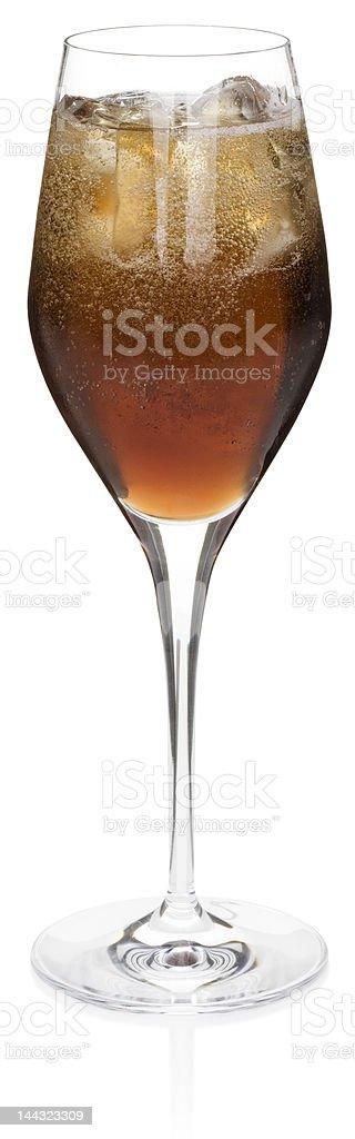 Black Velvet Cocktail (clipping path) stock photo