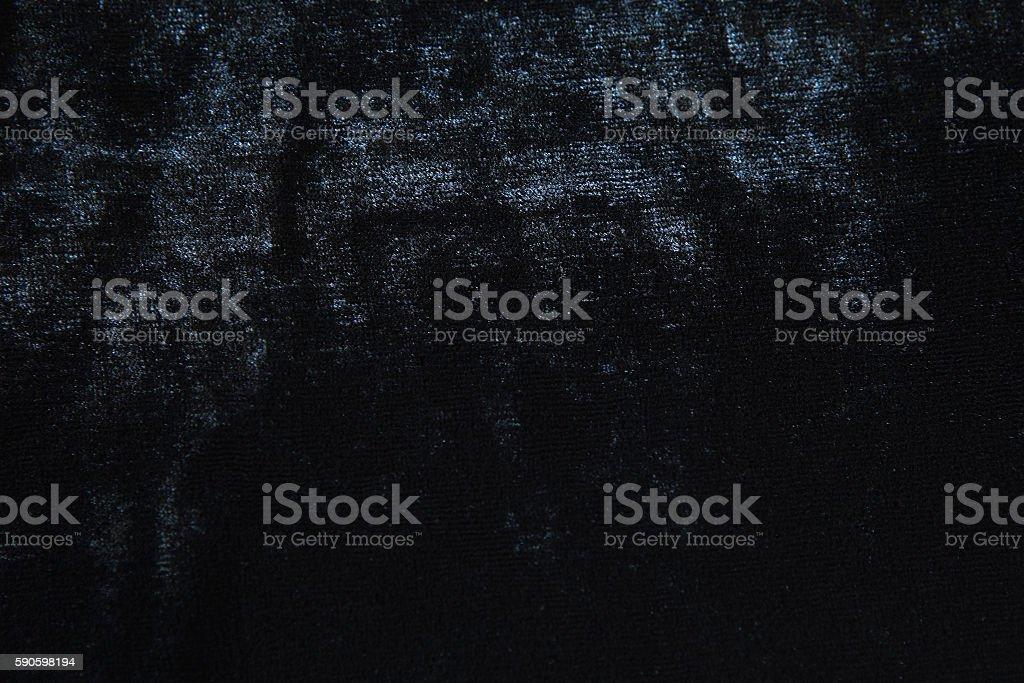 Black Velvet Fabric stock photo