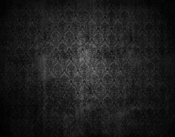 black wiktoriańska tapeta tło kwiatowy, retro tekstury - historycyzm zdjęcia i obrazy z banku zdjęć