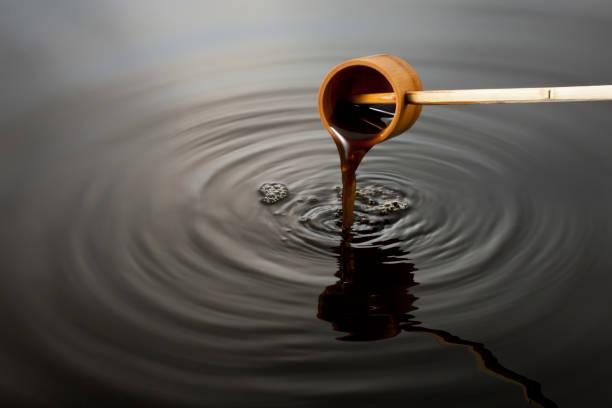 Black vinegar image stock photo