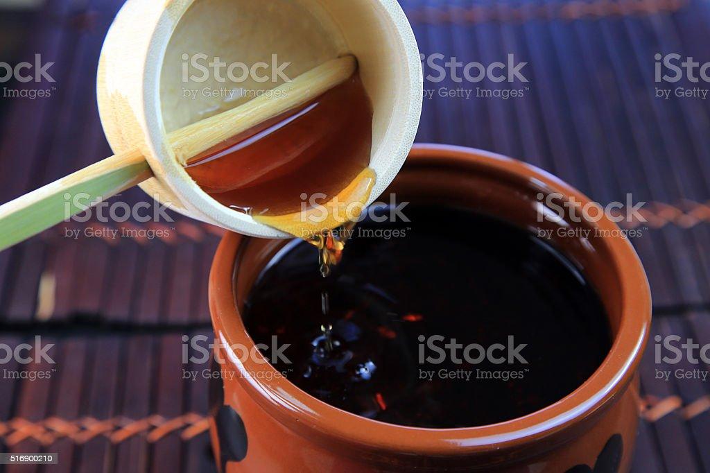 Black vinegar stock photo