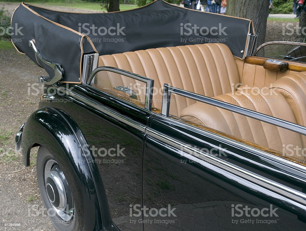 Black vintage Mercedes cabriolet (XL) royalty-free stock photo