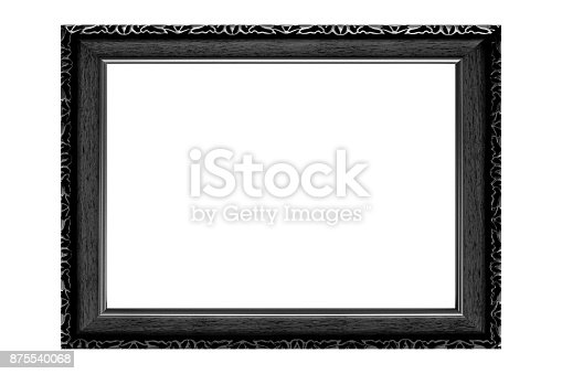 914465180 istock photo Black vintage picture frame isolated on white background. 875540068